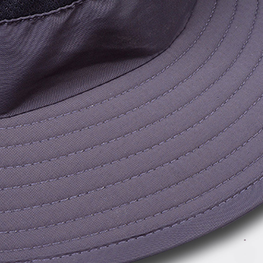 rim of wide rim hat Vadar men and womens wide brim bucket hat in color grey black