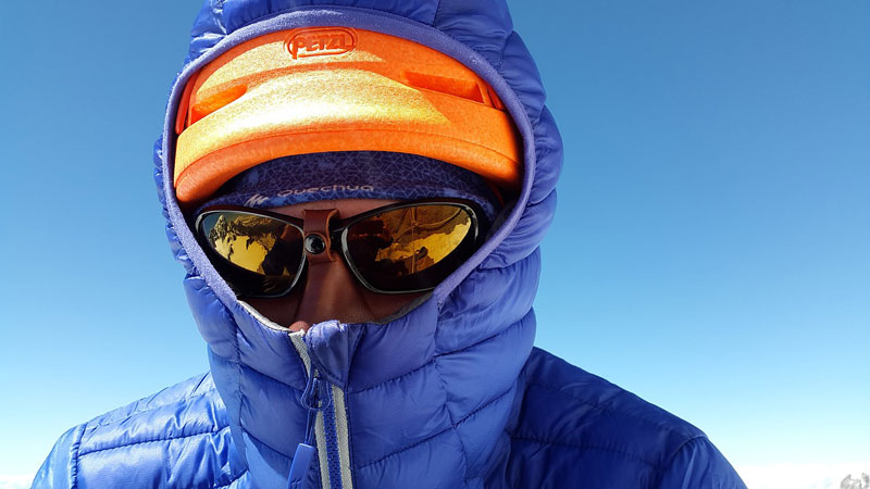sun protection with a hat and jacket